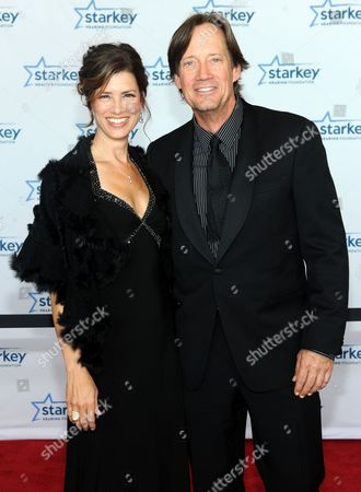 """Kevin Sorbo and wife Sam Jenkins are seen walking the red carpet at the Starkey Hearing Foundation's 2013 """"So the World May Hear"""" Awards Gala, on in St. Paul, Minn"""