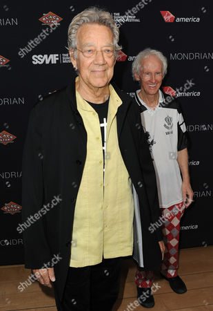 Ray Manzarek and Robby Krieger attend the Sunset Strip Music Festival VIP party at SkyBar, in West Hollywood, Calif