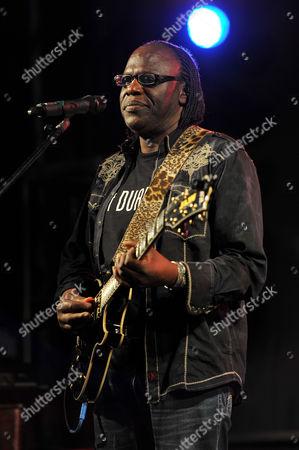 Joe Louis Walker performs during the Sunshine Blues Festival at the Mizner Park Amphitheater on in Boca Raton, Florida