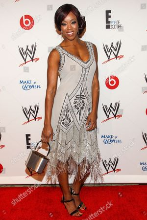 WWE Superstar Victoria Crawford (AKA Alicia Fox) arrives at the Superstars of Hope honors Make A Wish Foundation event at The Beverly Hills Hotel on in Beverly Hills, Calif