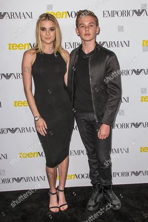 Madeline Blake, left, and Garrett Wareing attend the Teen Vogue's 13th Annual Young Hollywood Issue Launch Party on in Los Angeles