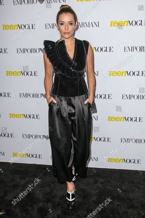 Sarah Dumont attends the Teen Vogue's 13th Annual Young Hollywood Issue Launch Party on in Los Angeles