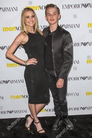 Stock Photo of Madeline Blake, left, and Garrett Wareing attend the Teen Vogue's 13th Annual Young Hollywood Issue Launch Party on in Los Angeles