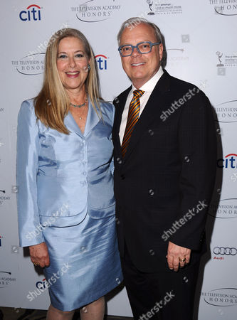 """Co-Chairs of the Television Cares Committee Lynn Roth (left) and John Shaffner arrive at the Academy of Television Arts & Sciences Presents """"The 6th Annual Television Honors"""" at the Beverly Hills Hotel on in Beverly Hills, Calif"""