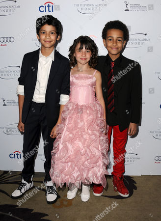 "Xolo Mariduena, Savannah Paige Rae and Tyree Brown arrive at the Academy of Television Arts & Sciences Presents ""The 6th Annual Television Honors"" at the Beverly Hills Hotel on in Beverly Hills, Calif"