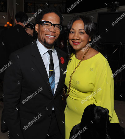 "DL Hughley and LaDonna Hughley attend the VIP reception at the Academy of Television Arts & Sciences Presents ""The 6th Annual Television Honors"" at the Beverly Hills Hotel on in Beverly Hills, Calif"