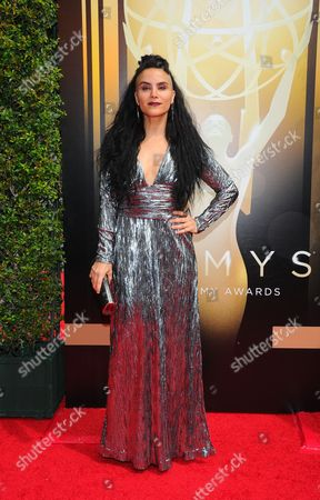 Sonya Tayeh arrives at the Television Academy's Creative Arts Emmy Awards at Microsoft Theater, in Los Angeles