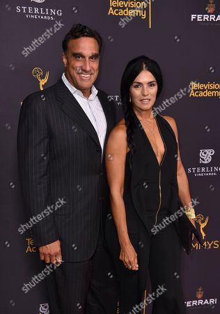 Doug DeLuca, left, and Alejandra DeLuca attend the Television Academy's 2016 Producers Nominee Reception at the Montage Hotel, in Beverly Hills, Calif