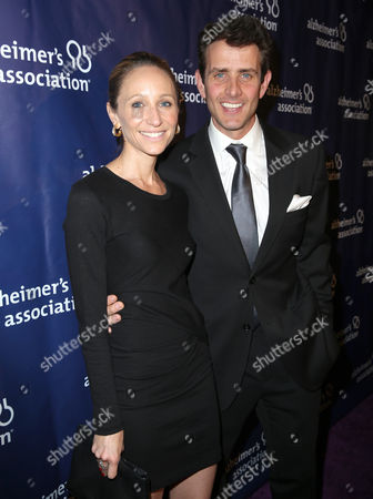 "Barrett Williams and Joey McIntyre arrive at the 24th annual Alzheimer's Association ""A Night at Sardi's"" at the Beverly Hilton hotel, in Beverly Hills, Calif"