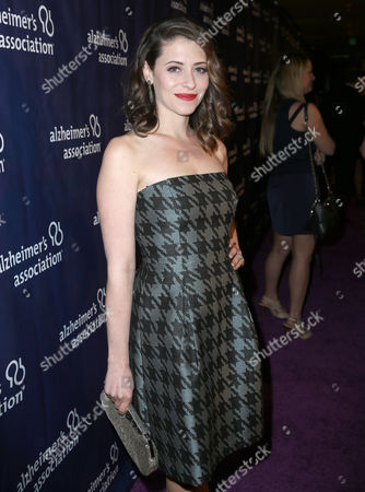 """Lauren Miller arrives at the 24th annual Alzheimer's Association """"A Night at Sardi's"""" at the Beverly Hilton hotel, in Beverly Hills, Calif"""