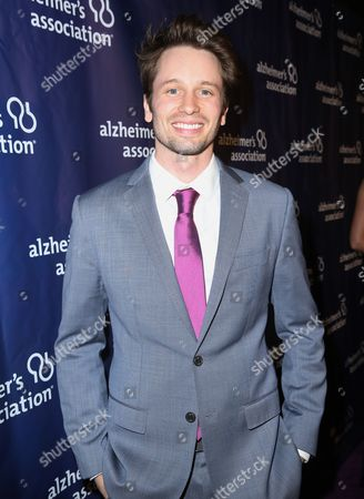 "Tyler Ritter arrives at the 24th annual Alzheimer's Association ""A Night at Sardi's"" at the Beverly Hilton hotel, in Beverly Hills, Calif"
