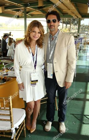 Lysa Heslov and Grant Haslov are seen on Day 2 of the Breeders' Cup World Championships, in Arcadia, Calif
