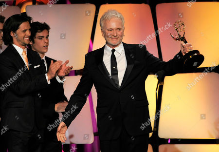 """Anthony Geary accepts the award for lead actor in a drama series for """"General Hospital"""" onstage at the 39th Annual Daytime Emmy Awards on HLN at the Beverly Hilton Hotel on in Beverly Hills, Calif"""