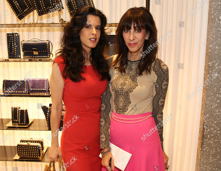 Founder and President of Intuition Productions, Keri Selig, left, and THR Style Editor Merle Ginsberg attend The Hollywood Reporter and Valentino Power of Style Lunch, at the Valentino Boutique in Beverly Hills, Calif