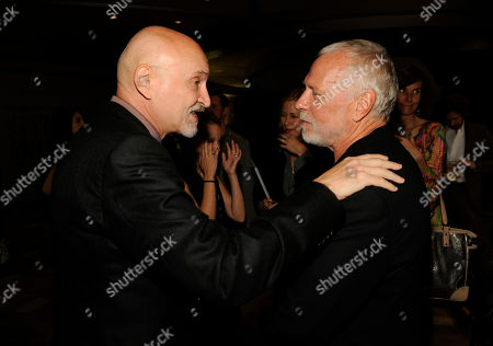 Drew Struzan, right and Frank Darabont attend The Hollywood Reporter Key Art Awards Powered by Clio at the Dolby Theatre, in Los Angeles