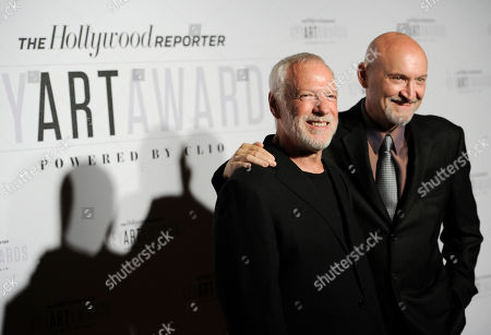 Drew Struzan, left, and Frank Darabont attend The Hollywood Reporter Key Art Awards Powered by Clio at the Dolby Theatre, in Los Angeles