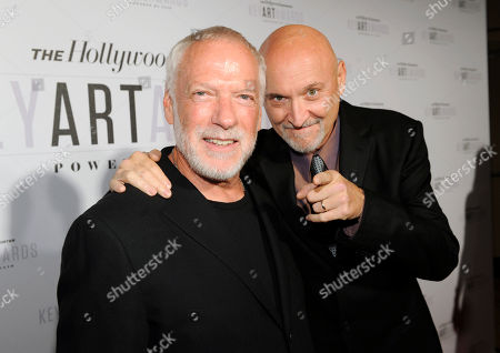 Drew Struzan, left and Frank Darabont attend The Hollywood Reporter Key Art Awards Powered by Clio at the Dolby Theatre, in Los Angeles