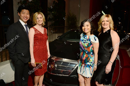 From left, Kristen Park, director of capital markets at Eaton Corporation, Alex Park, owner and operator of Crestmont Cadillac, Melody Lee, director of brand and reputation strategy for Cadillac, and Pam Fletcher, executive chief engineer for Cadillac ELR attend The Hollywood Reporter Nominees Night presented by Cadillac, Bing, Delta, Pandora jewelry, Qua, and Zenith, at Spago, in Beverly Hills, Calif