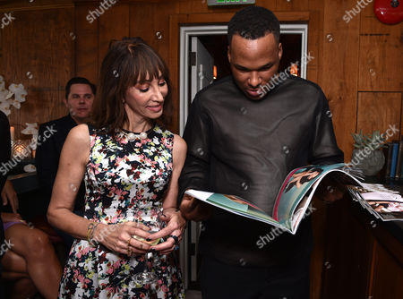 Merle Ginsberg, left, and Jason Rembert attend The Hollywood Reporter & Jimmy Choo Celebration of the Most Powerful Stylists in Hollywood,, in West Hollywood, Calif