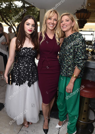 Odeya Rush, and from left, Tara Swennen, and Petra Flannery attend The Hollywood Reporter & Jimmy Choo Celebration of the Most Powerful Stylists in Hollywood,, in West Hollywood, Calif