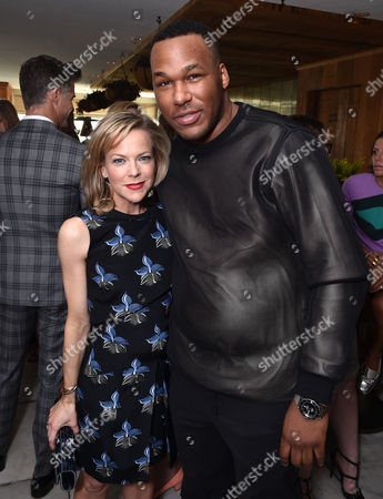 Carol McColgin, left, and Jason Rembert attend The Hollywood Reporter & Jimmy Choo Celebration of the Most Powerful Stylists in Hollywood,, in West Hollywood, Calif