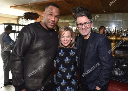 Jason Rembert, and from left, Carol McColgin, and Joseph Cassell attend The Hollywood Reporter & Jimmy Choo Celebration of the Most Powerful Stylists in Hollywood,, in West Hollywood, Calif