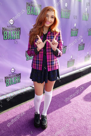 """Jennessa Rose arrives at """"Hub Network's First Annual Halloween Bash"""", at the Barker Hanger in Santa Monica, Calif. The star-studded special will be broadcasted on the Hub Network on Saturday Oct. 26, 2013"""