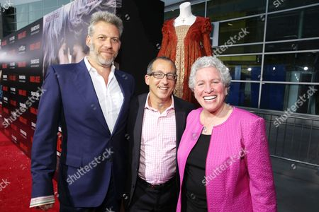 From left, producers Lawrence Elman, Philip Alberstat and Ileen Maise attend the premiere of Swarovski Entertainment first film ROMEO & JULIET, distributed by Relativity Media and in theaters nationwide October 11th on in Hollywood, Calif