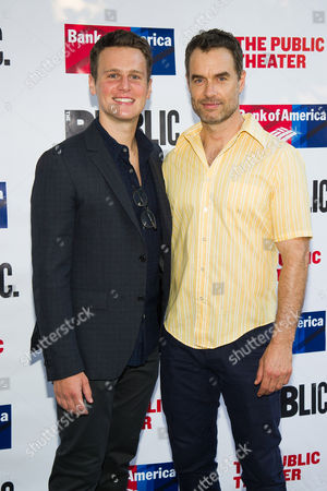 Jonathan Groff and Murray Bartlett attends The Public Theater's Annual Gala at the Delacorte Theater in Central Park, in New York