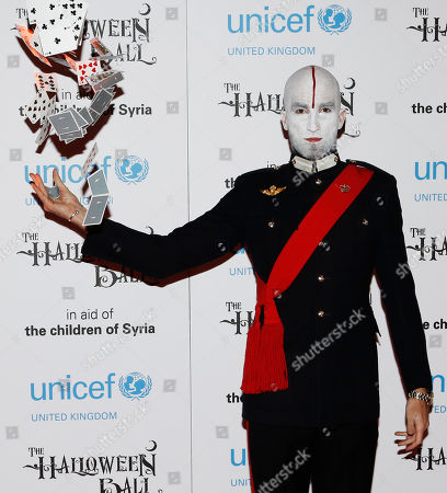 British magician Drummond Money-Coutts is seen at UNICEF UK Halloween Ball at One Mayfair, on Thursday, Oct., 31, 2013 in London, England