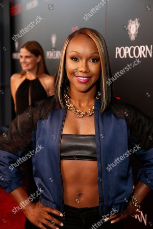 Carmelita Jeter seen at The World Premiere of Screen Gems 'The Perfect Guy', in Los Angeles, CA