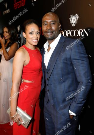 Pam Byse and Morris Chestnut seen at The World Premiere of Screen Gems 'The Perfect Guy', in Los Angeles, CA
