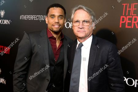 Michael Ealy and President, Screen Gems - Clint Culpepper seen at The World Premiere of Screen Gems 'The Perfect Guy', in Los Angeles, CA