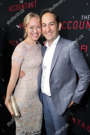 Producer Lynette Howell Taylor and Greg Silverman, President of Creative Development and Worldwide Productiat the TCL Chinese Theater on for Warner Bros. Pictures, seen at the Los Angeles World Premiere of Warner Bros. Pictures' 'The Accountant' to benefit the American Film Institute at the TCL Chinese Theater on Mat the TCL Chinese Theater onday, in Los Angeles