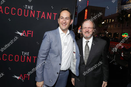 Greg Silverman, President of Creative Development and Worldwide Productiat the TCL Chinese Theater on for Warner Bros. Pictures, and Bob Gazzale, President and CEO of American Film Institute, seen at the Los Angeles World Premiere of Warner Bros. Pictures' 'The Accountant' to benefit the American Film Institute at the TCL Chinese Theater on Mat the TCL Chinese Theater onday, in Los Angeles