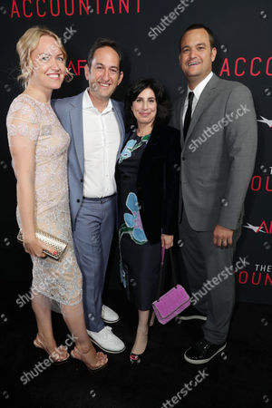 Producer Lynette Howell Taylor, Greg Silverman, President of Creative Development and Worldwide Productiat the TCL Chinese Theater on for Warner Bros. Pictures, Sue Kroll, President of Worldwide Marketing and Distributiat the TCL Chinese Theater on for Warner Bros. Pictures, and Executive Producer Jamie Patricof seen at the Los Angeles World Premiere of Warner Bros. Pictures' 'The Accountant' to benefit the American Film Institute at the TCL Chinese Theater on Mat the TCL Chinese Theater onday, in Los Angeles