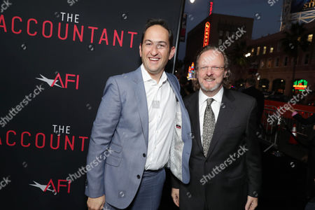 "Greg Silverman, President of Creative Development and Worldwide Production for Warner Bros. Pictures, and Bob Gazzale, President and CEO of American Film Institute, seen at the Los Angeles World Premiere of Warner Bros. Pictures' ""The Accountant"" to benefit the American Film Institute at the TCL Chinese Theater, in Los Angeles"