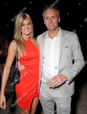 Shayna Taylor and Treats! Publisher Steve Shaw attend Treats! Magazine 7th Issue Launch Party Honoring Cover Star Dylan Penn hosted by DSTLD Jeans and Shnaap, on in Beverly Hills, Calif