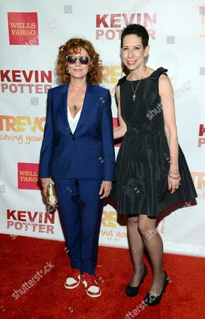 Actress Susan Sarandon, left, and The Trevor Project Executive Director and CEO, Abbe Land, attend TrevorLIVE New York to benefit The Trevor Project at the Marriott Marquis, in New York