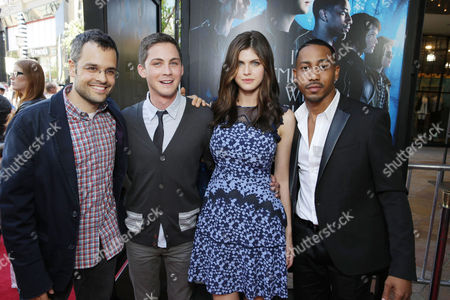 Director Thor Freudenthal, Logan Lerman, Alexandra Daddario and Brandon T. Jackson seen at Twentieth Century Fox and Fox 2000 Present 'Percy Jackson: Sea of Monsters' special fan screening, on Wednesday, July, 31, 2013 in Los Angeles, Calif