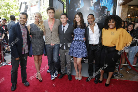 Director Thor Freudenthal, Leven Rambin, Douglas Smith, Logan Lerman, Alexandra Daddario, Brandon T. Jackson and Yvette Nicole Brown seen at Twentieth Century Fox and Fox 2000 Present 'Percy Jackson: Sea of Monsters' special fan screening, on Wednesday, July, 31, 2013 in Los Angeles, Calif