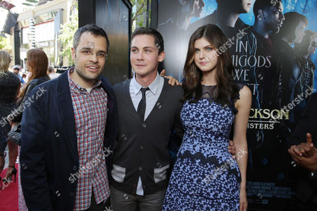 Director Thor Freudenthal, Logan Lerman and Alexandra Daddario seen at Twentieth Century Fox and Fox 2000 Present 'Percy Jackson: Sea of Monsters' special fan screening, on Wednesday, July, 31, 2013 in Los Angeles, Calif