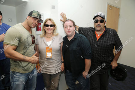 Marty York, Producer Cathleen Summers, Shane Obedzinski and Daniel Zacapa seen at Twentieth Century Fox Home Entertainment celebrating the 20th anniversary of 'The Sandlot' at Dodger Stadium, on Sunday, Sep, 1, 2013 in Los Angeles