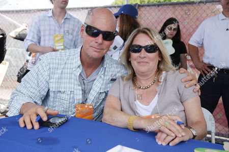 Director David Mickey Evans and Producer Cathleen Summers seen at Twentieth Century Fox Home Entertainment celebrating the 20th anniversary of 'The Sandlot' at Dodger Stadium, on Sunday, Sep, 1, 2013 in Los Angeles