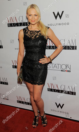 Stock Image of Irina Voronina poses at Viva Glam magazine's September issue launch at Station Hollywood, in Los Angeles