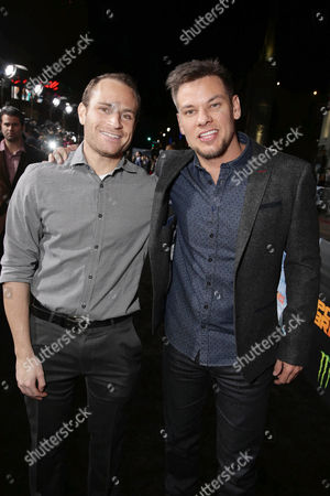 Matt Weiss and Theo Von seen at Warner Bros. Pictures and Alcon Entertainment present 'Point Break' at TCL Chinese Theatre, in Hollywood, CA