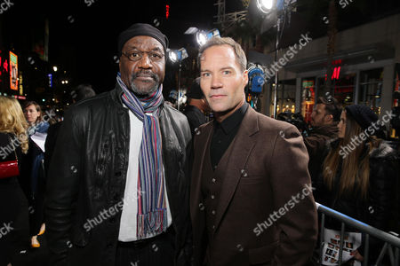 Delroy Lindo and Bojesse Christopher seen at Warner Bros. Pictures and Alcon Entertainment present 'Point Break' at TCL Chinese Theatre, in Hollywood, CA