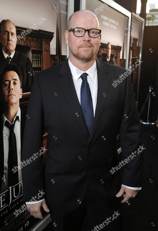 "Screenwriter Nick Schenk seen at Warner Bros. Picture's Los Angeles Premiere of ""The Judge"" held at Samuel Goldwyn Theatre, AMPAS on Wed, in Los Angeles"