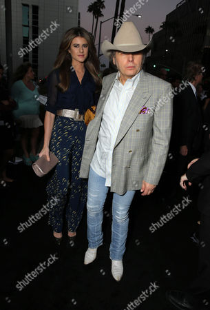 """Emily Joyce and Dwight Yoakam seen at Warner Bros. Picture's Los Angeles Premiere of """"The Judge"""" held at Samuel Goldwyn Theatre, AMPAS on Wed, in Los Angeles"""