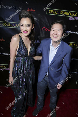 "Ken Jeong and Jessika Van seen at Wonder Vision Presents ""Seoul Searching"" Premiere, in Los Angeles, CA"